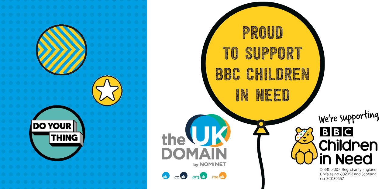 Nominet Donating Minimum of £200k To BBC's Children in Need