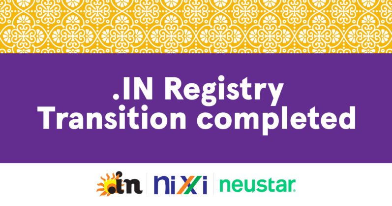 .IN Registry Transition to Neustar Registry Platform Complete